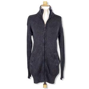 Soybu | Long Full Zipper Stand Up Collar Sweater S